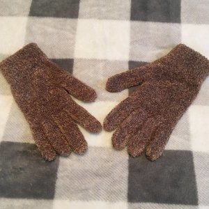 B2G1! Women's Brown Furry Gloves